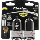 Master Lock 1-3/4 In. Laminated Stainless Steel Keyed Padlock with 1-1/2 In. Shackle (2-Pack) Image 2