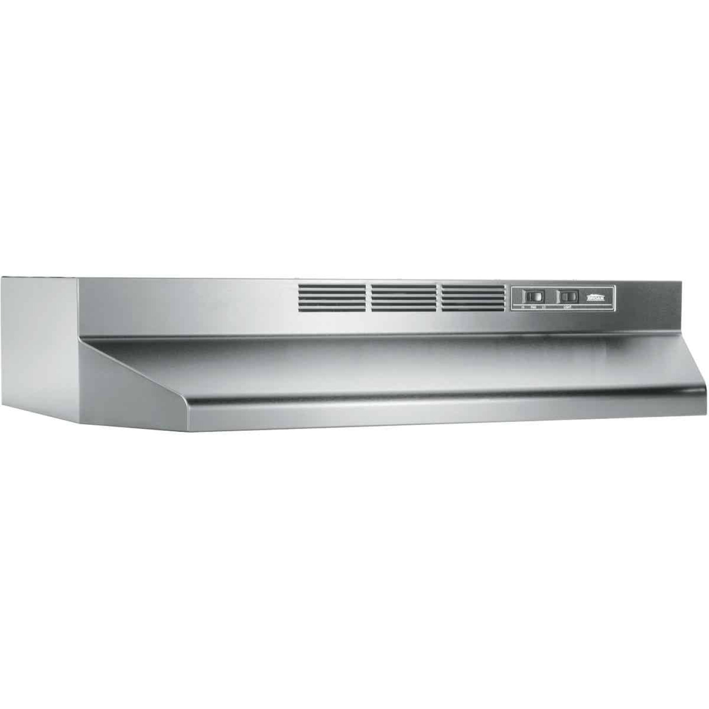 Broan-Nutone 41000 Series 36 In. Non-Ducted Stainless Steel Range Hood Image 1