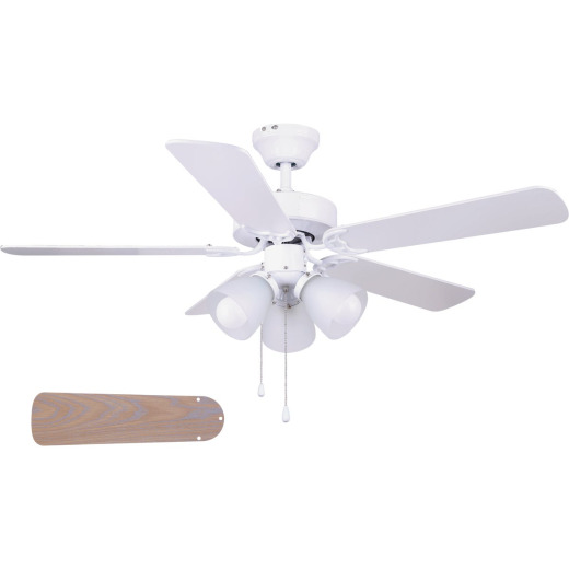 Home Impressions Studio 42 In. White Ceiling Fan with Light Kit