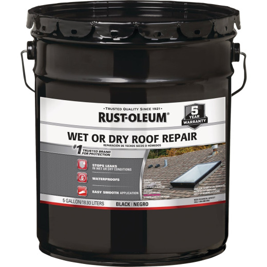 Rust-Oleum 5 Gal. Black Plastic Roof Cement